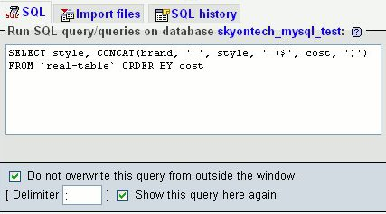 Create the SQL SELECT statement that will form the basis of the view.
